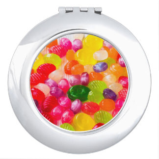 Colorful Sweet Candies Food Lollipop Travel Mirrors