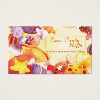Colorful Sweet Candy Shop Business Cards