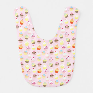 Colorful Sweet Cupcakes Pattern Baby Bib