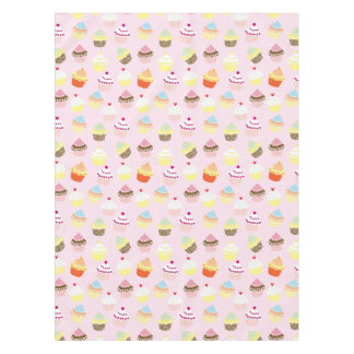 Colorful Sweet Cupcakes Pattern Tablecloth