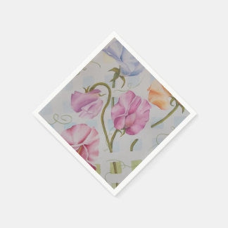 COLORFUL SWEET PEAS PAPER NAPKINS