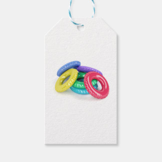 Colorful swim rings gift tags