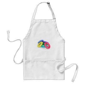 Colorful swim rings standard apron