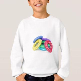 Colorful swim rings sweatshirt