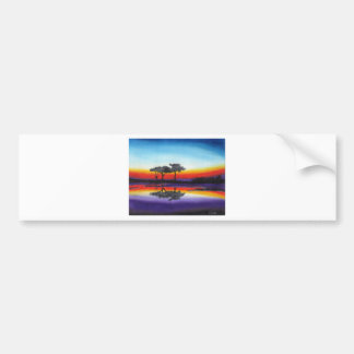 Colorful Swing Lake Oil Painting Bumper Sticker