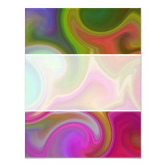 Colorful Swirl Abstract Personalized Announcement