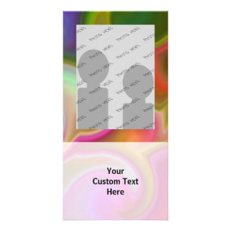 Colorful Swirl Abstract Customized Photo Card