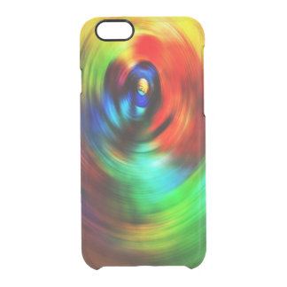 Colorful Swirl Clear iPhone 6/6S Case
