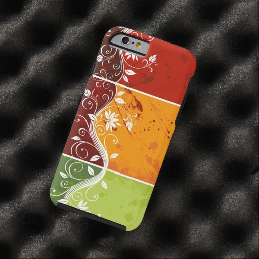 colorful swirl flowers abstract art iPhone 6 case