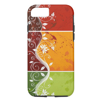 colorful swirl flowers abstract art iPhone 7 case