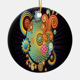Colorful swirl illustration design christmas tree ornaments