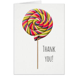 Colorful Swirl Lollipop Greeting Card