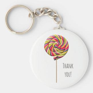Colorful Swirl Lollipop Keychain