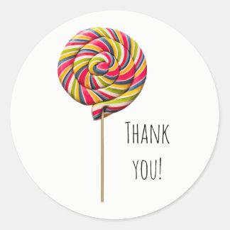 Colorful Swirl Lollipop Sticker