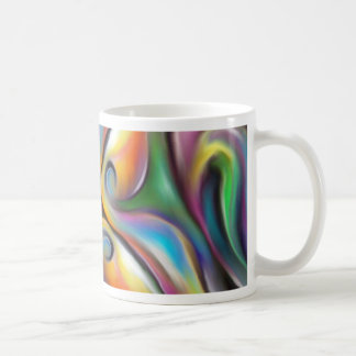 Colorful Swirling Softly Blended Paint Transitions Coffee Mug