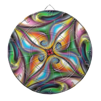Colorful Swirling Softly Blended Paint Transitions Dartboard