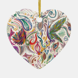 colorful swirls and doodles christmas tree ornaments