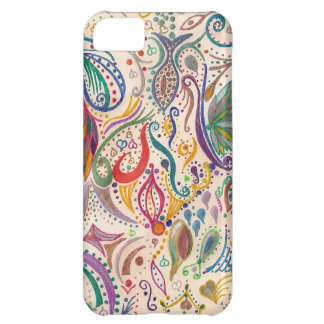 colorful swirls and doodles iPhone 5C case