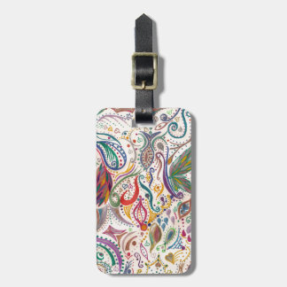 colorful swirls and doodles travel bag tags