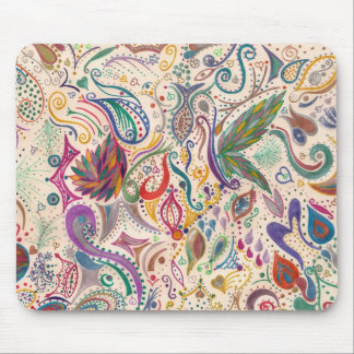 colorful swirls and doodles mousepads