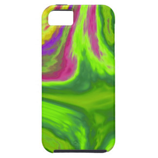 Colorful swirls background iPhone 5 cases