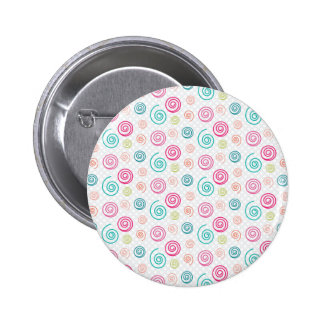 Colorful Swirls Button