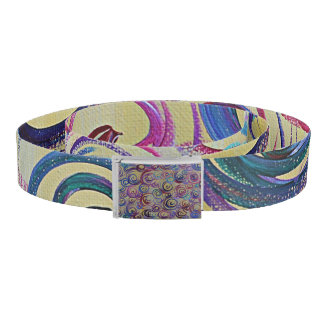 Colorful Swirls Belt