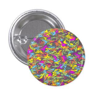 Colorful Swirls on Dark Gray 3 Cm Round Badge