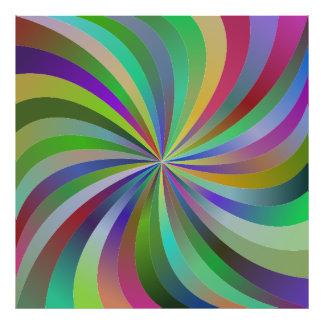 Colorful swirls photo print