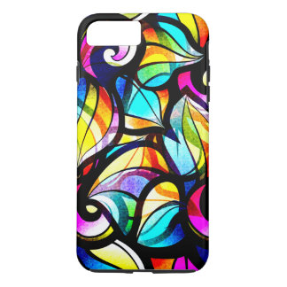 Colorful Swirls Stained Glass Look iPhone 7 Plus Case