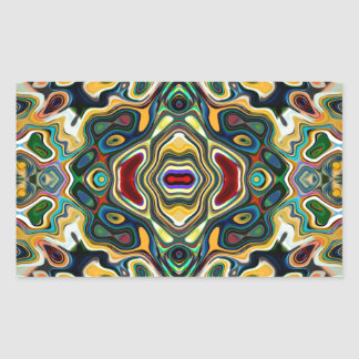 Colorful Symmetric Abstract Rectangular Sticker
