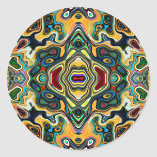 Colorful Symmetric Abstract Round Sticker