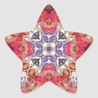 Colorful Symmetric Abstract Star Sticker