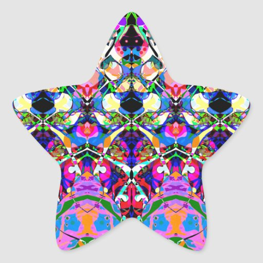 Colorful Symmetrical Abstract Sticker
