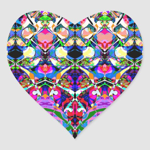 Colorful Symmetrical Abstract Stickers