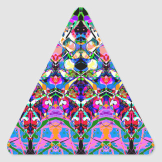 Colorful Symmetrical Abstract Triangle Sticker