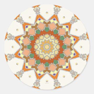 Colorful Symmetrical Star Round Sticker