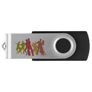 Colorful Tango Dancers USB Flash Drive