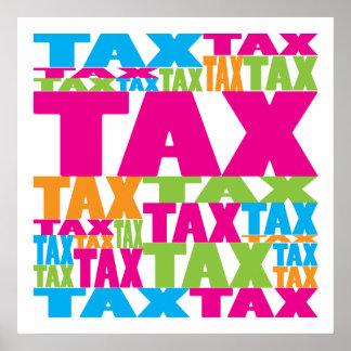 Colorful Tax Print