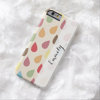 Colorful Teardrop, Raindrop Pattern Barely There iPhone 6 Case