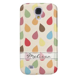 Colorful Teardrop, Raindrop Pattern Samsung Galaxy S4 Cases