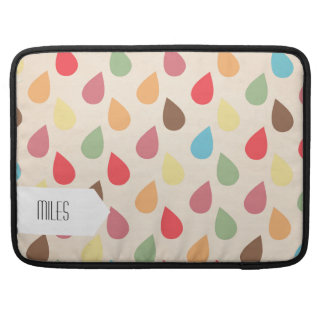 Colorful Teardrop, Raindrop Pattern Sleeve For MacBook Pro