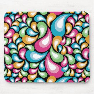 Colorful Teardrops Mousepad