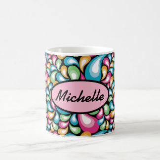 Colorful Teardrops Coffee Mugs