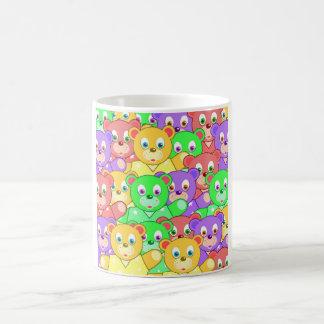 COLORFUL TEDDY BEARS COFFEE MUG
