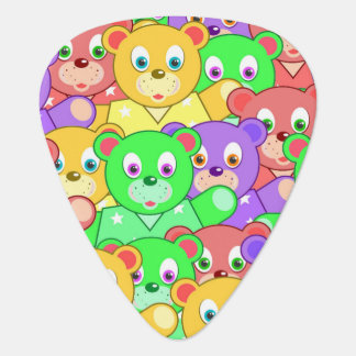 COLORFUL TEDDY BEARS PLECTRUM
