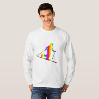 Colorful Telemark Rainbow Long Sleeve T-Shirt