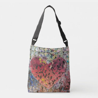 Colorful texture Heart bag
