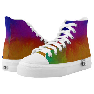 Colorful Texture High Tops