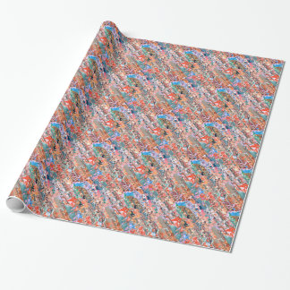 Colorful Textured Abstract Wrapping Paper